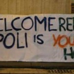 "Migranti accolti dal popolo napoletano: ""Welcome, Napoli is your home"""