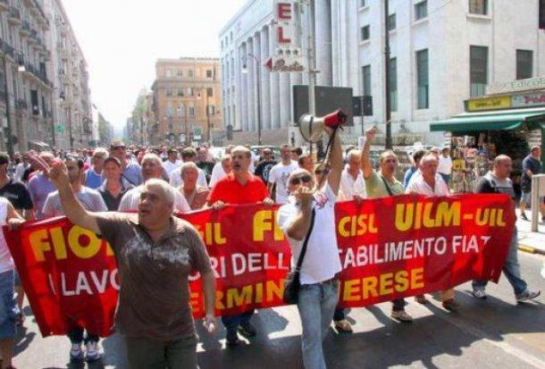 CORTEO OPERAI FIAT ROMA: ALEMANNO CONTRO ED E' POLEMICA