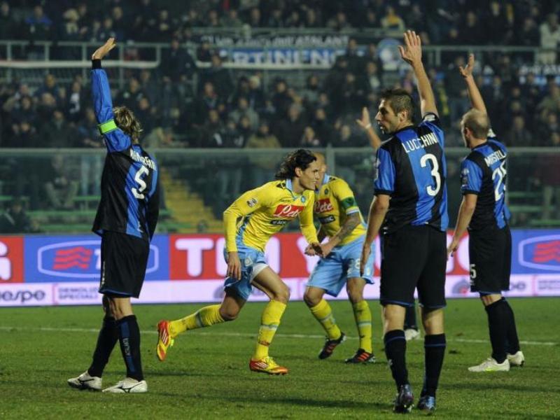 Al 94' Napoli riprende il cammino, con Cavani ritorna la zona Napoli.