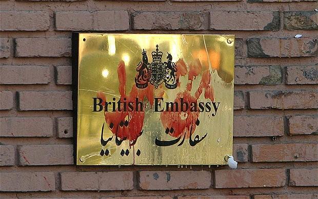 Attacco all'ambasciata inglese