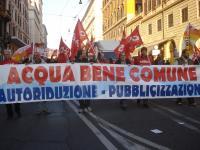Il referendum va rispettato: manifestazione per l'acqua pubblica