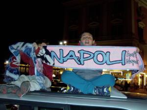 Attimi prima dell'inizio dell'incontro Napoli Chelsea. The Champions.