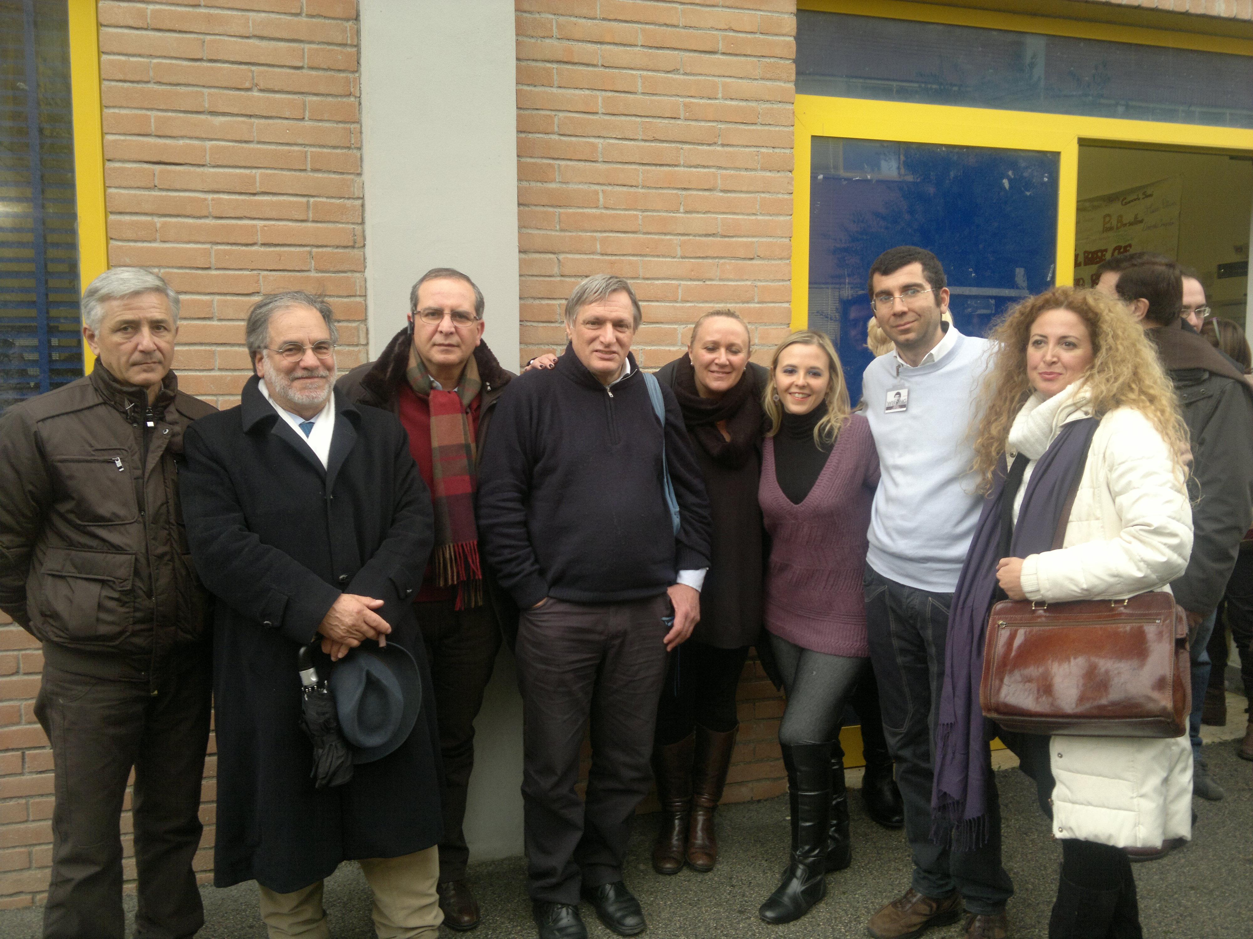 Don Luigi Ciotti in visita all'Isituto I.I.S.S. di Casalnuovo.