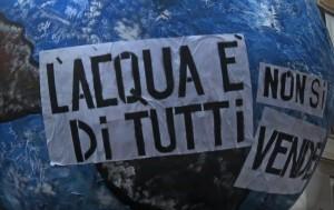 L'acqua pubblica protagonista della manifestazione contro la discarica in località Castagnaro