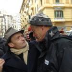 Oreste Scalzone con Road Tv Italia durante all'assedio alla Regione