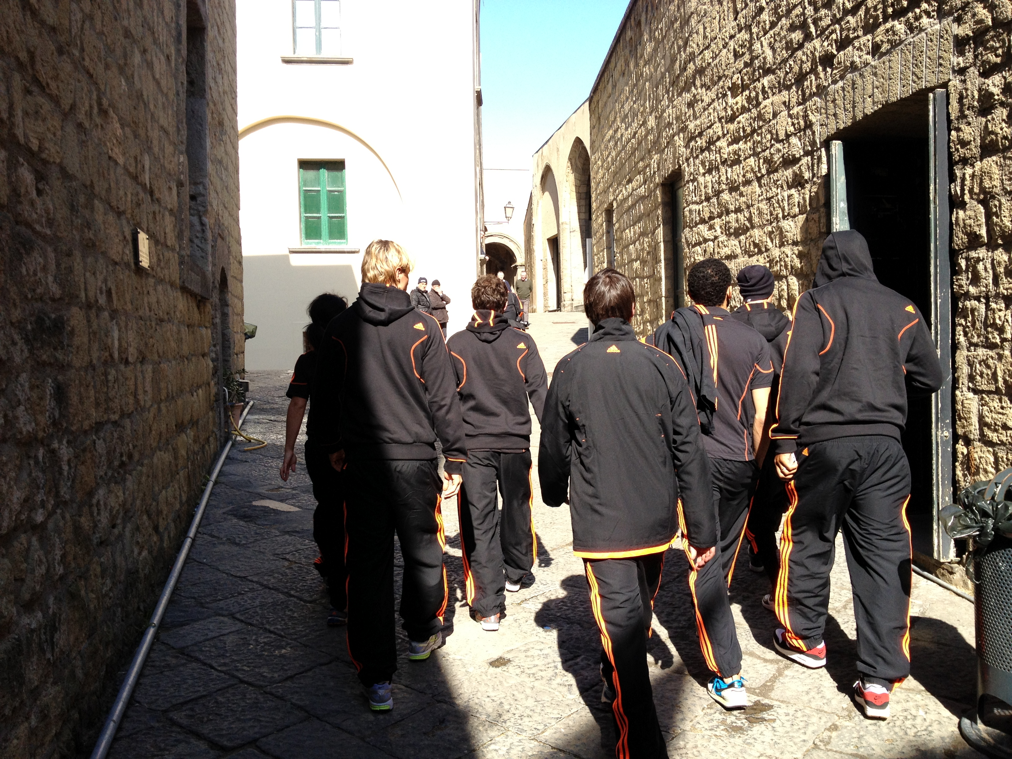 Following Chelsea team in Naples
