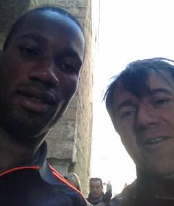Chelsea football team walking in Naples