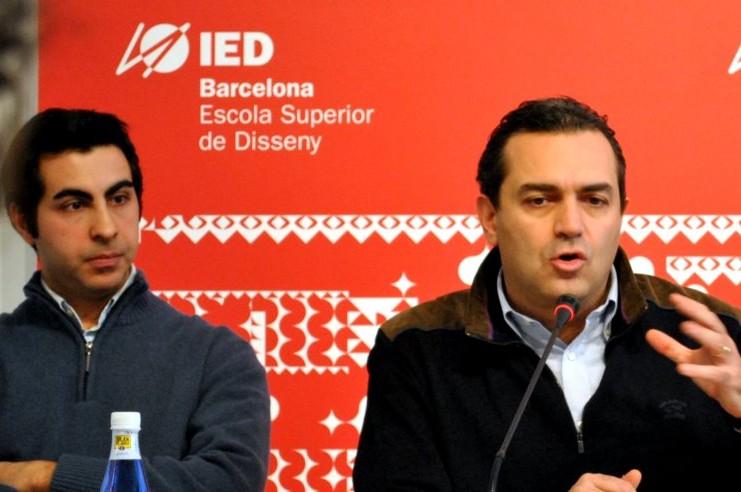 Luigi De Magistris presso l'Istituto Europeo di design di Barcellona