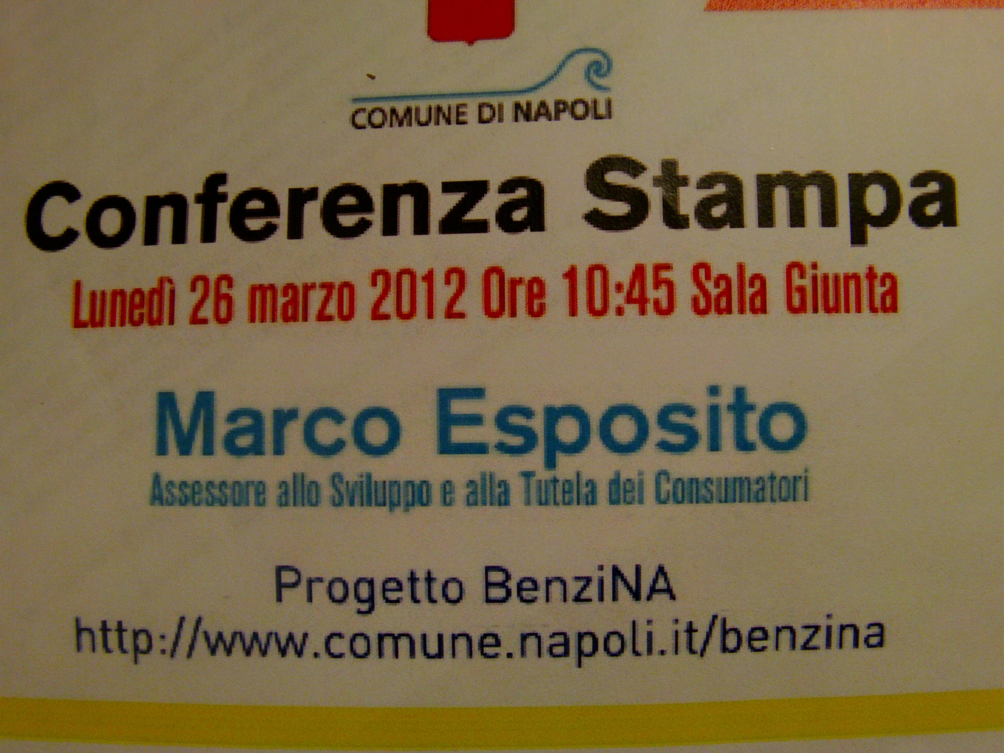 Progetto BenziNA: conferenza stampa al Comune di Napoli