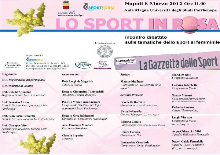 Sport in Rosa. Road Tv Italia con l'eccellenza dello sport napoletano al femminile