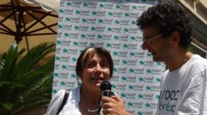 Lungomare di Napoli: intervista a Rosaria De Cicco che introduce Luigi De Magistris