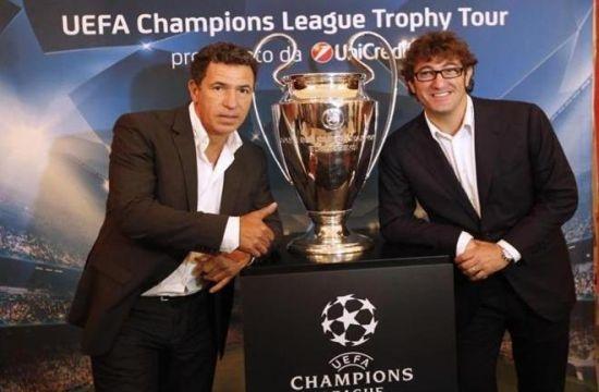 Trophy Tour 2012, Unicredit presenta a Napoli la festa Uefa Champions League
