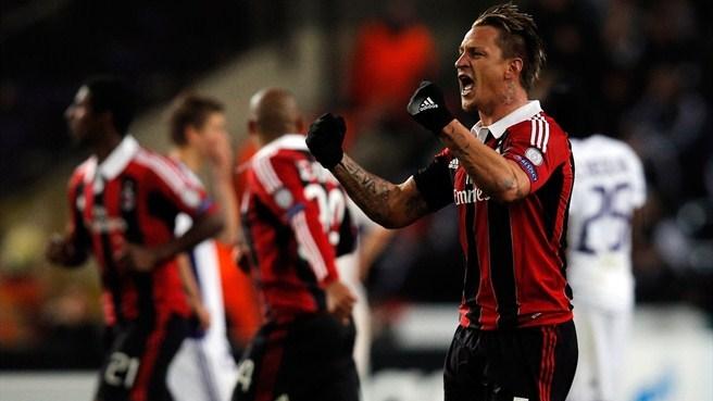 Champions League: Il Milan stende l'Anderlecht e stacca il biglietto per gli ottavi