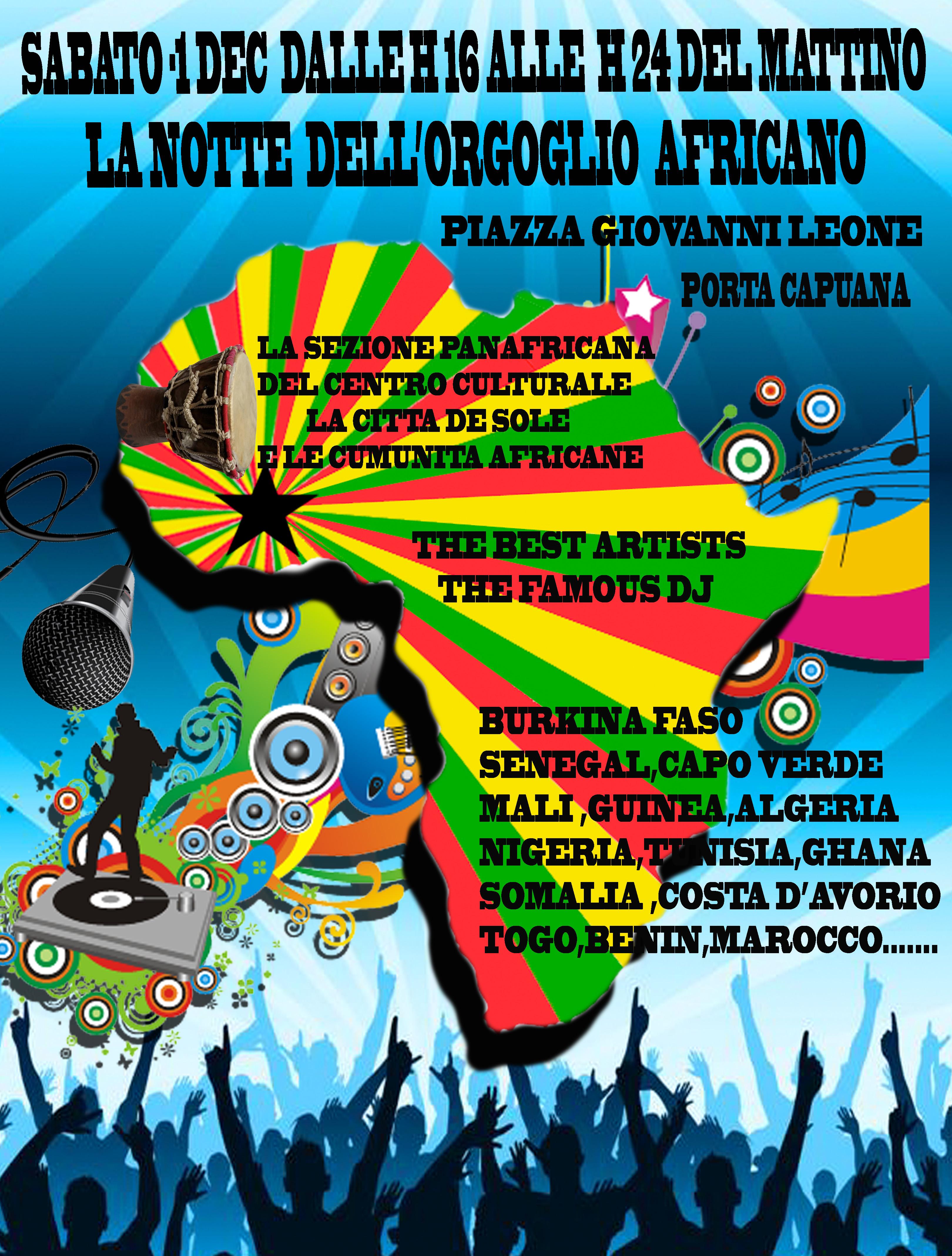 RINVIATA La Notte dell'Orgoglio Africano a Napoli
