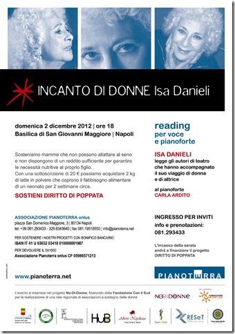 Domenica 2 dicembre recital di Isa Danieli presso la Basilica di San Giovanni Maggiore