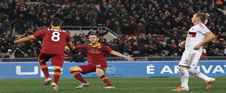 Uragano Roma, Milan travolto. I giallorossi vincono 4-2