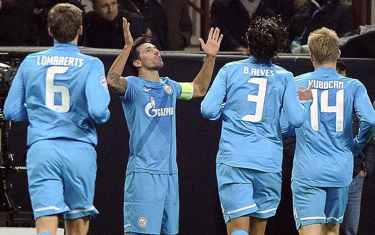 Champions, sconfitta indolore per il Milan, lo Zenit di Spalletti batte i rossoneri 1-0