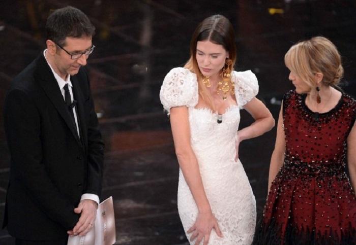 """Gli outfits della finale del Festival di Sanremo 2013: """"Bianca Balti bellezza acqua e sapone"""""""