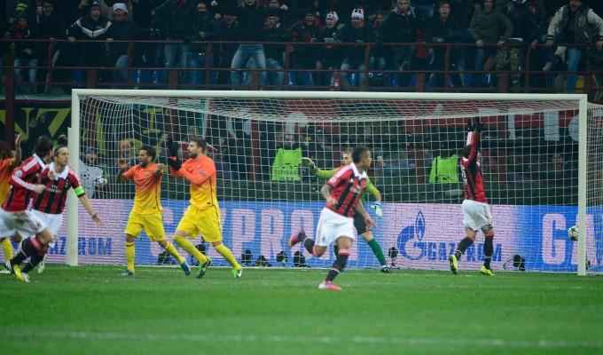Clamoroso a San Siro, Milan-Barcelona 2-0. Boateng e Muntari zittiscono i blaugrana