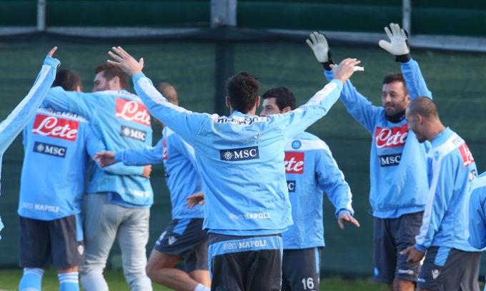 Napoli, allenamento a Roma in vista della gara con la Lazio