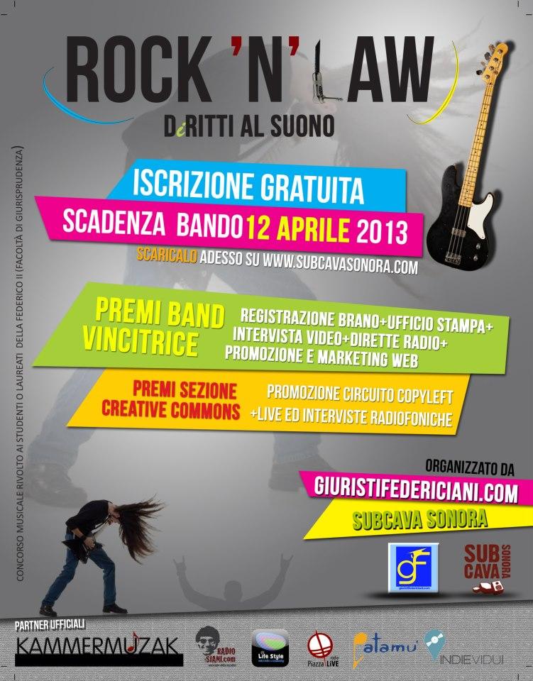 Rock 'n' Law: un contest musicale a favore dei diritti e dell'originalità.