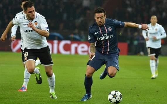PSG - Valencia 1-1: i francesi soffrono ma poi ci pensa Lavezzi