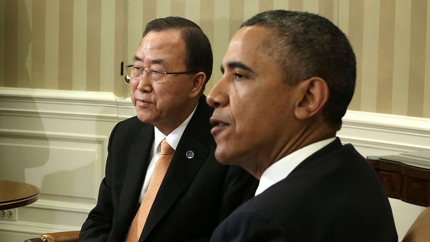 """La pace continua ad essere minacciata. Incontro Obama-Ban Ki-moon. Il presidente USA: """"no alla guerra, ma basta provocazioni"""", il segretario generale ONU: """"la Cina intervenga per appianare le ostilità"""""""