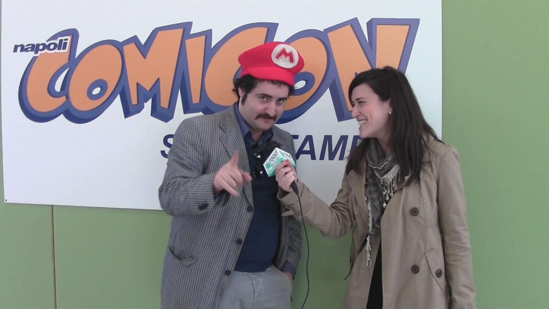 """Comicon 2013: Edoardo Guadagno, alias Mario Bros di """"Made in Sud"""" e Claudio Curcio, organizzatore dell'evento, si raccontano"""