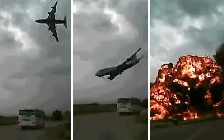 Guarda il video dell'aereo precipitato in Afghanistan