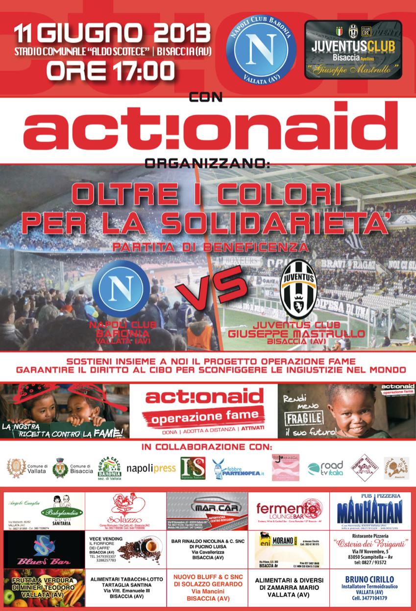 """Partita benefica per Action Aid: """"Napoli Baronia"""" di Vallata VS """"Juve Mastrullo"""" di Bisaccia (VIDEO)"""
