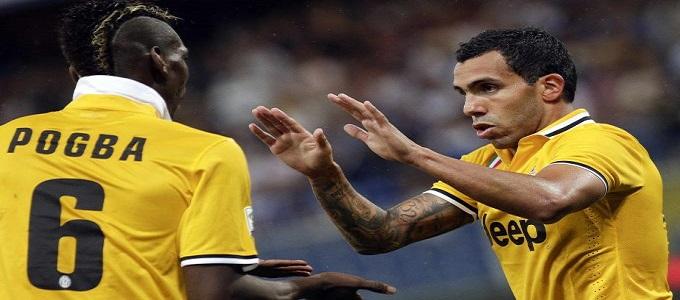 Sampdoria-Juventus 0-1: Tevez subito decisivo alla prima