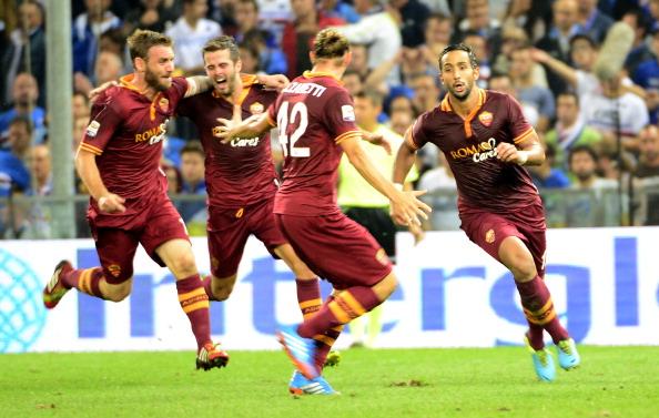 La Roma si allontana dal Napoli, goleada col Bologna