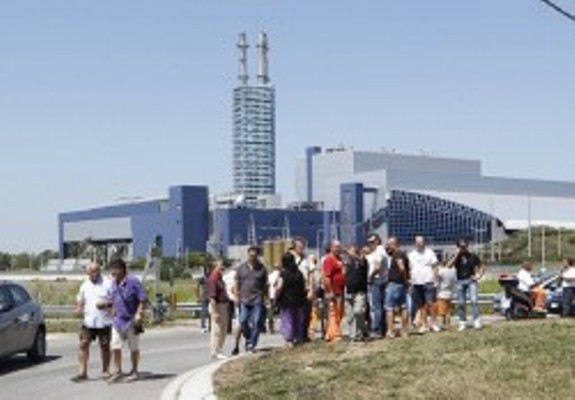 Inceneritore di Acerra: la protesta dei dipendenti