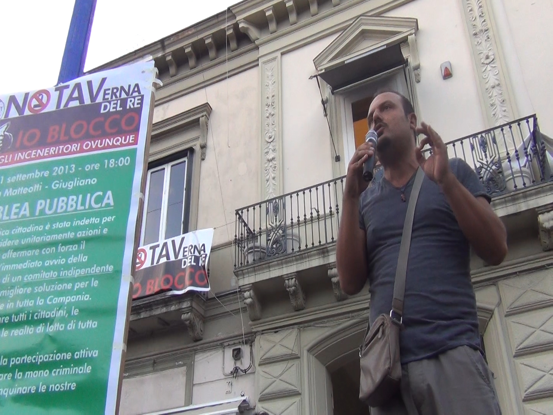 NoTAVerna del Re, Giugliano protesta contro l'inceneritore (VIDEO)