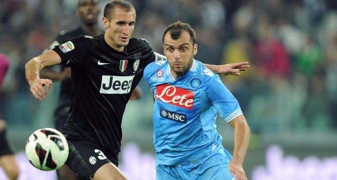 Juventus-Napoli: infortunio per Chiellini