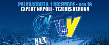 Basket, Expert Napoli-Tezenis Verona: segui la diretta testuale dal Palabarbuto