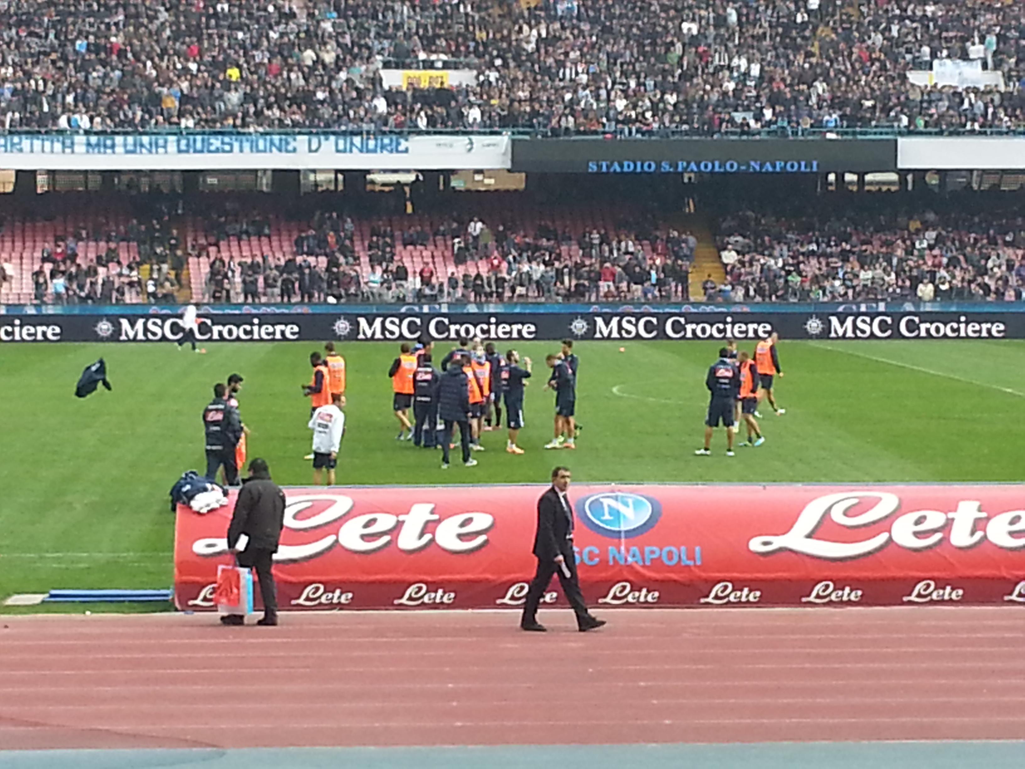 Allenamento del Napoli allo Stadio (fotogallery)