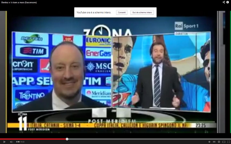 Il TRAM A MURO di Benitez (VIDEO)