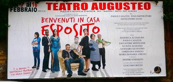 Benvenuti in casa Esposito al Teatro Augusteo (VIDEO)