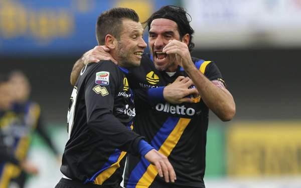 Il Parma fa festa a Verona, Cassano e Lucarelli piegano il Chievo