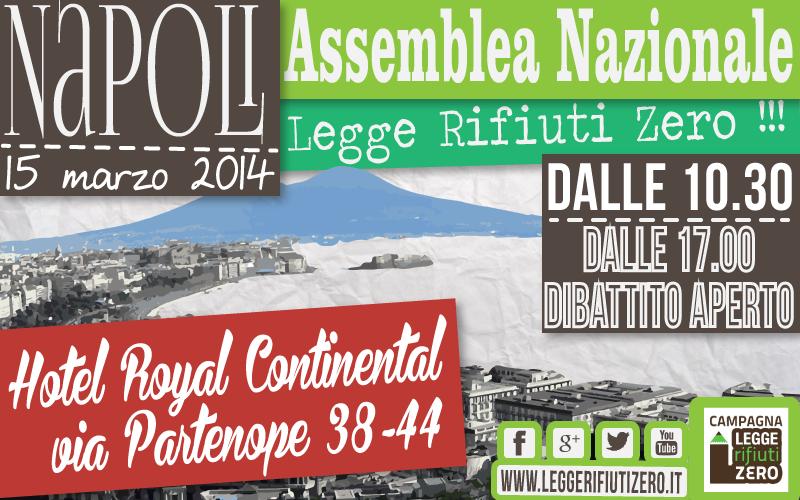 Zero Waste- Rifiuti Zero a Napoli: Assemblea nazionale a sostegno della Legge popolare