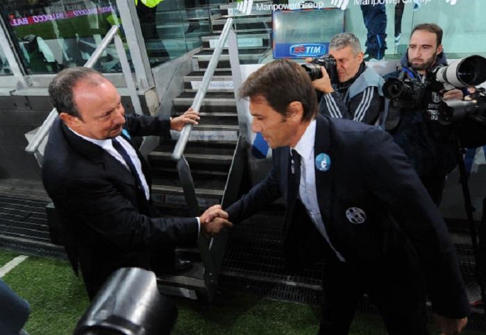 """Napoli-Juventus, Benitez: """"Battuta Juve da record con una serata perfetta"""". Conte: """"Rafa dice cose inesatte"""""""