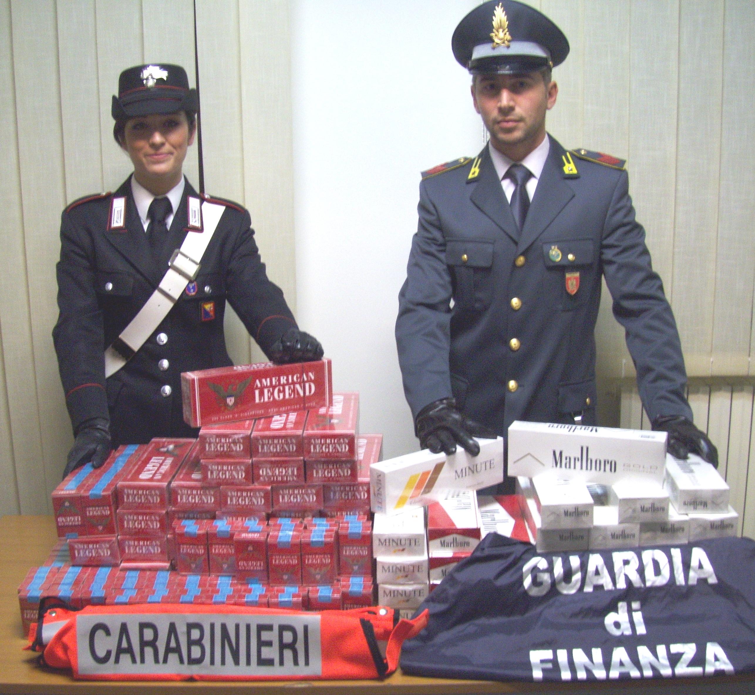 Contrabbando di sigarette, stangata dai Carabinieri e dalla Guardia di Finanza