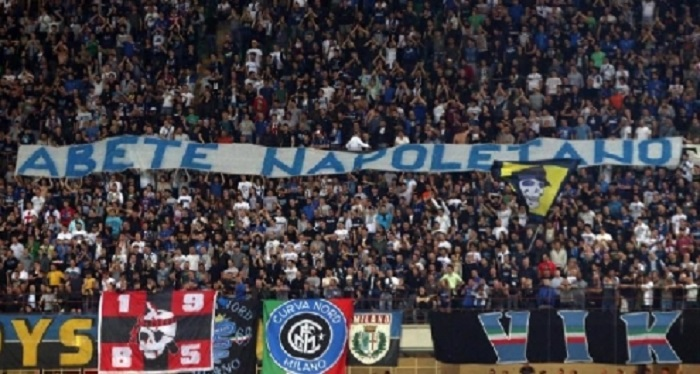 Ancora cori contro i napoletani, chiusa la Curva Nord dell'Inter