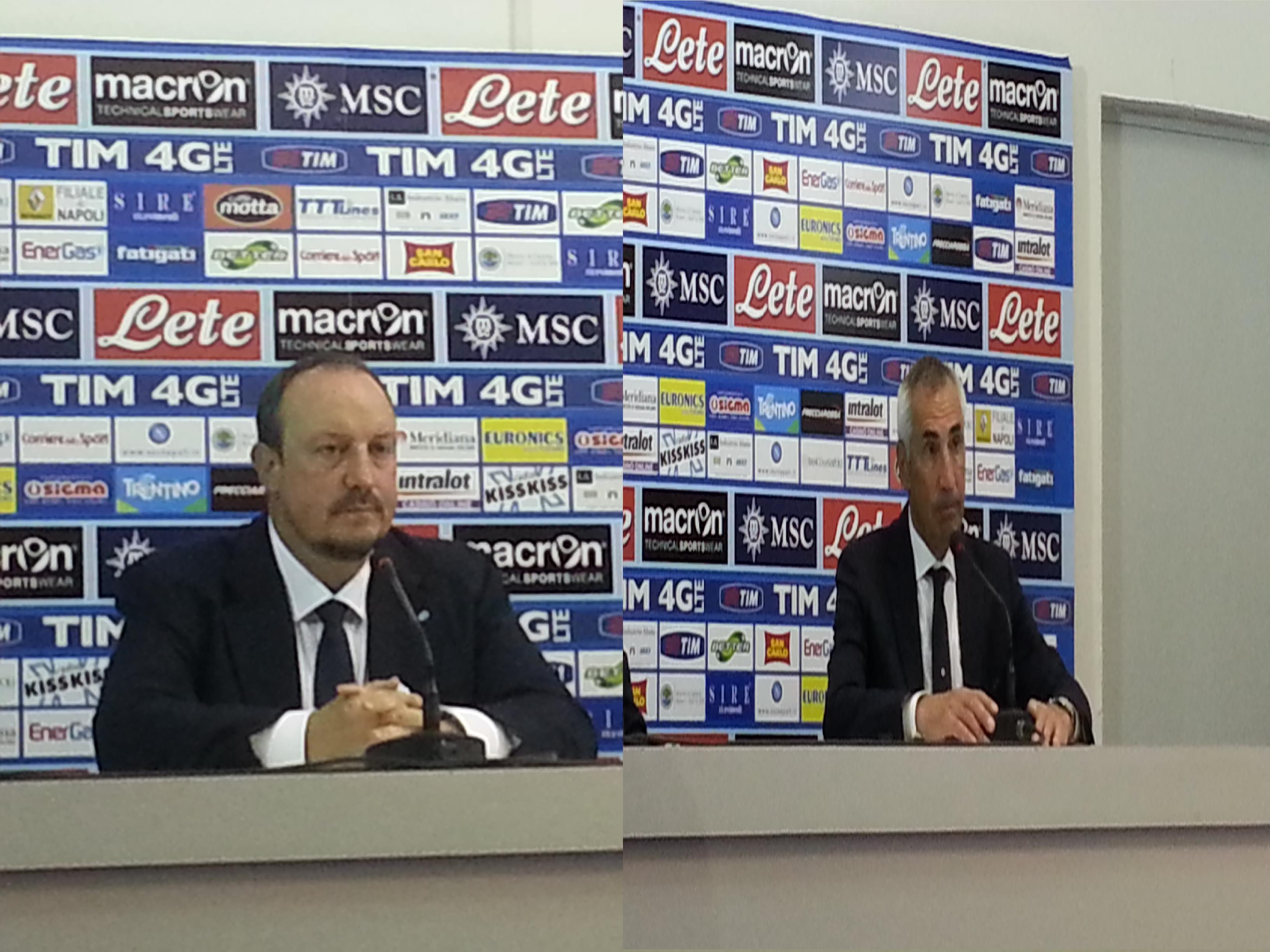 Postpartita Napoli - Lazio, le dichiarazioni degli allenatori