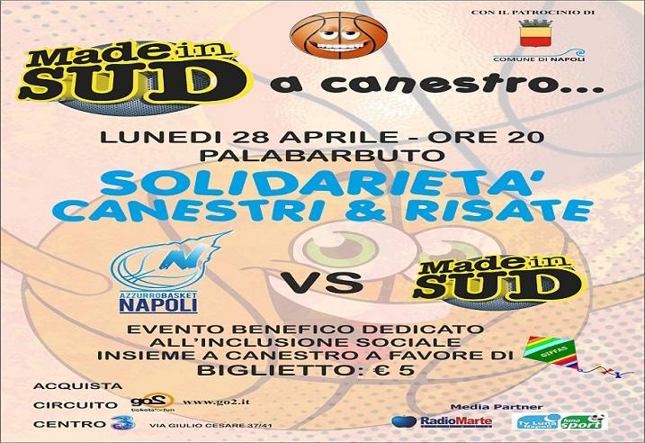 """Azzurro Napoli Basket e Made in Sud """"insieme a canestro"""": domani conferenza stampa di presentazione"""