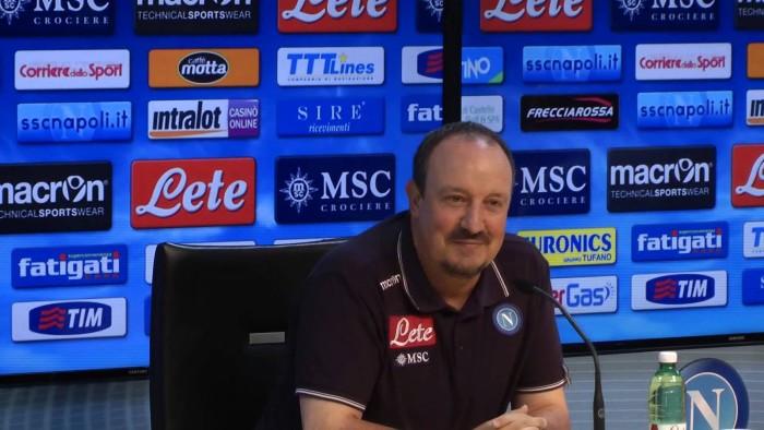 """Parma-Napoli, Benitez: """"Attenti alle ripartenze veloci. Dobbiamo giocare come contro la Juve"""""""""""