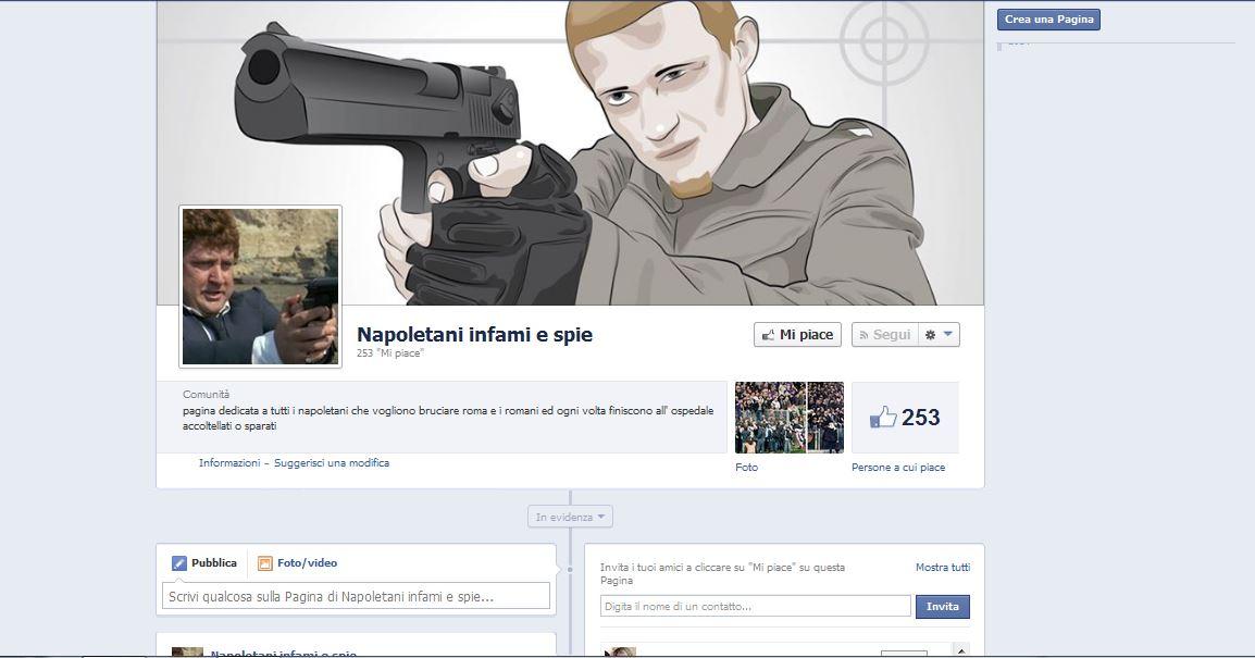 Napoletani infami e spie: una nuova pagina Facebook razzista