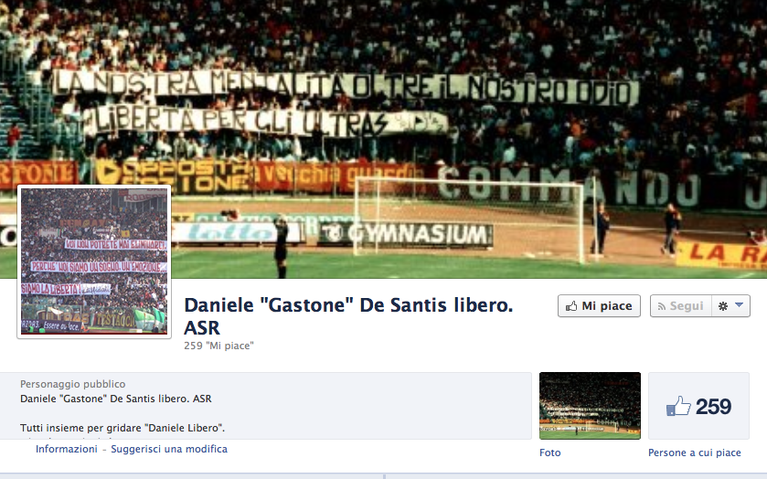 De Santis, stub negativo: su Facebook una pagina ne chiede la liberazione