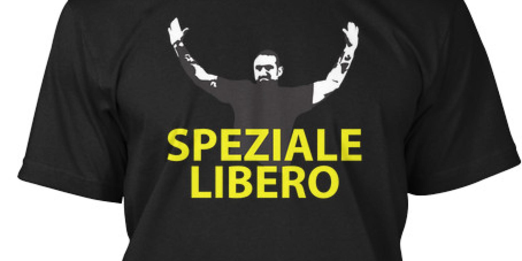 """Sul web in vendita la maglietta """"Speziale libero"""" di Genny 'a carogna"""